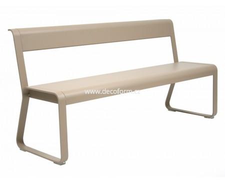 BELLEVIE lavice s opěradlem