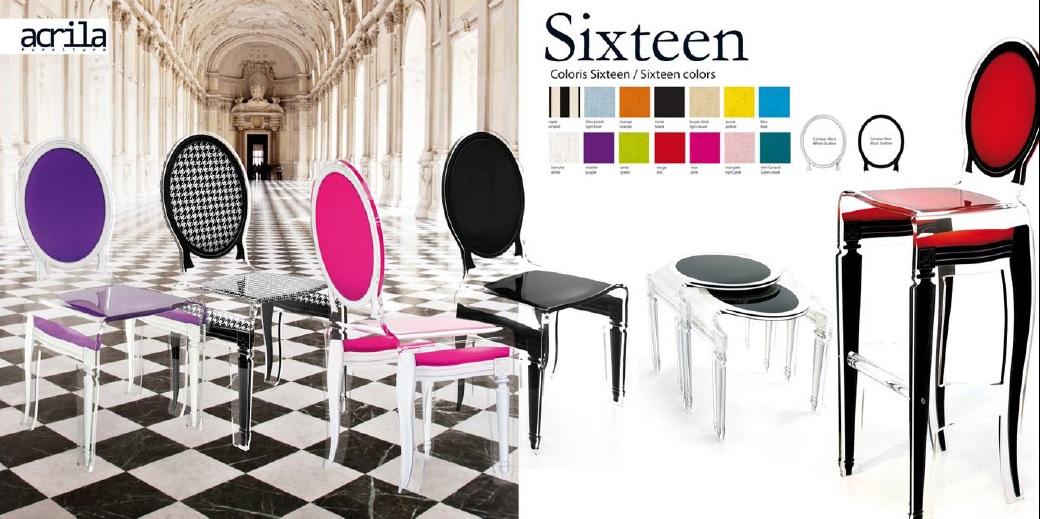 akrylátová židle Sixteen