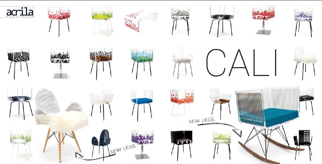 akrylátová židle