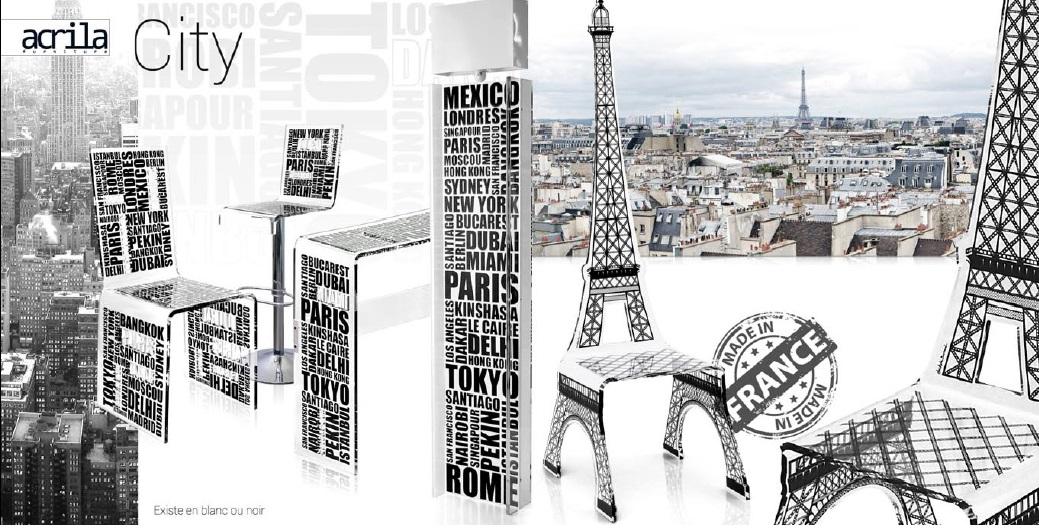 akrylátová barová židle City